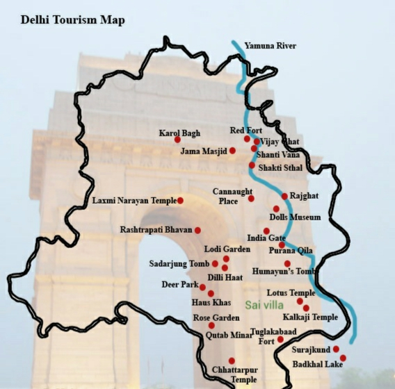 Sai villa on Delhi Map